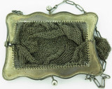 1911 USA STERLING SILVER CHAINMAIL PURSE. MAKER K.M. NEEDS REPAIR.