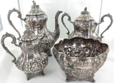 1851 - 1874 USA BALL, BLACK & Co STUNNING LARGE STERLING SILVER TEA COFFEE SET.