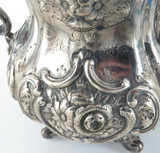 1851 - 1874 USA BALL, BLACK & Co STUNNING LARGE STERLING SILVER TEA COFFEE SET.