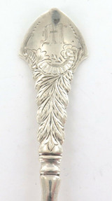 1891 GORHAM STERLING SILVER BERRY SPOON.