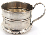 1906 - 1914 USA ALBERT J GANNON STERLING SILVER CHRISTENING CUP + NAME.