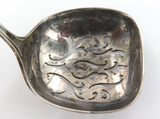 """c1917 USA R WALLACE & SONS """"CABOT"""" STERLING SILVER SMALL PIERCED LADLE / SIFTER."""