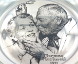"1971 FRANKLIN MINT ""NORMAN ROCKWELL"" STERLING SILVER LIMITED EDITION PLATE."