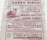 100% GENUINE c1958 SPANISH BULLFIGHTING SMALL SILK POSTER.