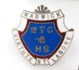 "4 VINTAGE QLD SCHOOL BADGES. WARWICK & ""GLENNIE"" TOOWOOMBA."