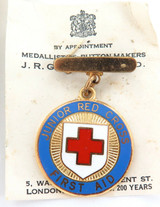 c1940's / 1950's MINTY ENGLISH JUNIOR RED CROSS FIRST AID MEDAL & ORIGINAL B0X.