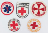 SELECTION VINTAGE GERMAN RED CROSS / AMBULANCE / RESCUE PATCHES.