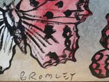 "DAVID BROMLEY ""Butterflies"" Original Polymer & Silver Leaf on Canvas 120 x 150cm"