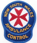 OBSOLETE NSW AMBULANCE CONTROL PATCH. 9.2CMS x 7.4CMS. NICE CONDITION.