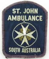 SCARCE EARLY VERSION ST. JOHN AMBULANCE SOUTH AUSTRALIA PATCH. #1