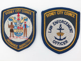 2 VINTAGE SYDNEY CITY COUNCIL PATCHES. LAW ENFORCEMENT & ORDINANCE INSPECTOR