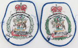 PAIR VINTAGE QUEENSLAND QLD TRANSPORT INSPECTOR LARGE PATCHES. 10.2CMS HIGH.