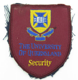 SCARCE / VINTAGE THE UNIVERSITY OF QUEENSLAND SECURITY PATCH, 9CMS X 7.7CMS