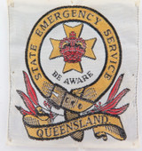 "c1970's / 1980's QUEENSLAND QLD STATE EMERGENCY SERVICE ""BE AWARE"" PATCH."