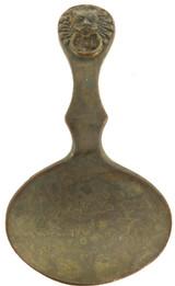 1800s GOTHIC BRASS / BRONZE TEA CADDY SPOON.