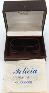 1981 FELICIA MENS WATCH DISPLAY BOX + ORIGINAL GUARANTEE.