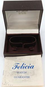 1981 FELICIA MENS WATCH DISPLAY BOX + ORIGINAL GUARANTEE.