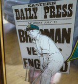 LARGE DON BRADMAN LIMITED EDITION BAR MIRROR. READY TO HANG !!