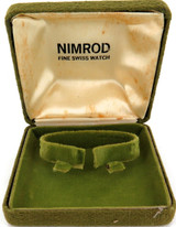 SCARCE VINTAGE SWISS NIMROD CLOTH EXTERIOR MENS WATCH DISPLAY BOX.