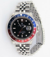 """Auth 1989 Rolex GMT Master """"Pepsi"""" Steel Wrist Watch +Box Tag Instructions 16700"""