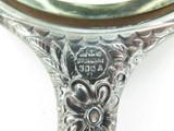 1875 - 1900 ART NOUVEAU GORHAM STERLING SILVER 4 PIECE REPOUSSE VANITY SET.