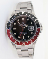 "Auth 2002 Rolex GMT Master ""Coke"" Steel Watch Full Set Box Papers Tags 16710"