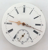 ANTIQUE UNBRANDED HIGH GRADE WOLF TOOTH 16S POCKET WATCH MOVEMENT & DIAL.