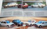 1984 VOLKSWAGEN BROCHURE. RABBIT L, JETTA, GTI, SCIROCCO, VANAGON, QUANTUM ETC