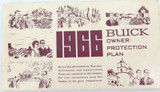 1966 USA BUICK OWNER PROTECTION PLAN BOOKLET.