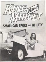 RARE c1958 KING MIDGET SMALL SPORTS CAR & UTILITY BOOKLET.