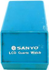 SCARCE VINTAGE SANYO LCD QUARTZ MENS WATCH DISPLAY BOX
