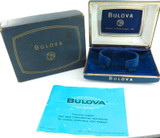 RARE GROUPING / c1950s BULOVA MENS WATCH DISPLAY BOX + OUTER + BOOKLET.