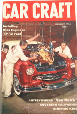 FEBRUARY 1956 USA CAR CRAFT MONTHLY MAGAZINE. INSTALLING OLD FORD ENGINES.