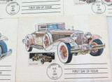 1988 PART SET 5 USA UNUSED FDC's VINTAGE CARS.