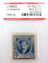 US STAMP #882 1940 5c ULTRAMARINE PSE GRADED XF-SUP 95 MINT OGnh
