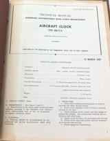 RARE 1967 WAKMANN MILITARY AIRCRAFT CLOCK MODEL W-33-7590-10A MANUAL