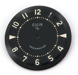 ELGIN NOS UNUSED MENS WATCH DIAL. ELGIN SHOCKMASTER BLACK 26.4mm #8