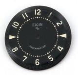 ELGIN NOS UNUSED MENS WATCH DIAL. ELGIN SHOCKMASTER BLACK 26.4mm #8