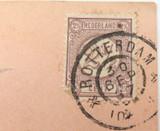 1897 ROTTERDAM to NEW JERSEY CITY, USA on VIERORDT & Co CARD.