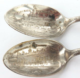4 x 1893 CHICAGO WORLD COLUMBIAN EXPOSITION SILVERPLATE SOUVENIR TEASPOONS