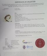 A Wonderfully Fine 10K Rose Gold Diamond Set Ladies Ring Size L Val $2910