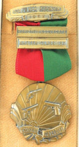 1959 USA SHOOTING MEDAL, RAPID FIRE AGGREGATE, 1ST MASTER CLASS.