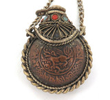 ANTIQUE METAL & SEMI-PRECIOUS STONES OTTOMAN EMPIRE ? MINI OPIUM FLASK POT. #2