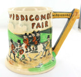 1935 ENGLISH CROWN DEVON WIDDICOMBE FAIR LARGE MUSICAL TANKARD.