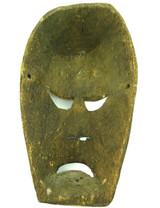 ANTIQUE CARVED ETHNOGRAPHIC  BALSA WOOD MASK, UNKNOWN ORIGIN