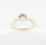 A Five Diamond Set Contoured Anniversary 18ct Yellow Gold Ring Val $1780 #2