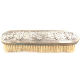QUALITY INDIAN .900 (90) SILVER / VERY ORNATE CLOTHES BRUSH.