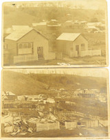 """RARE """"BEFORE & AFTER"""" PHOTO'S CYCLONE DAMAGE, MARCH 1911 PORT DOUGLAS QLD"""