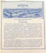 1947 E INGRAHAM POCKET WATCH GUARANTEE / INSTRUCTIONS.