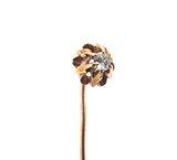 Stunning Antique Pretty 0.07 Diamond & 10ct Rose & Yellow Gold Stick Pin 1.5g
